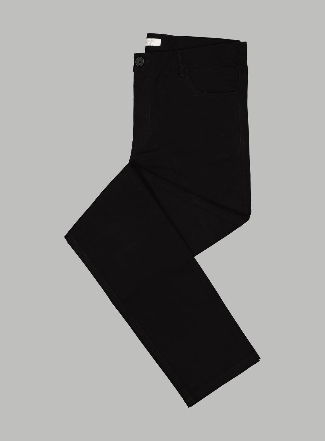 Abe Black 5 Pocket Trouser
