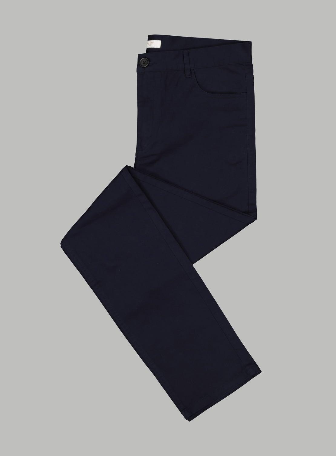 Abe Navy 5 Pocket Trouser