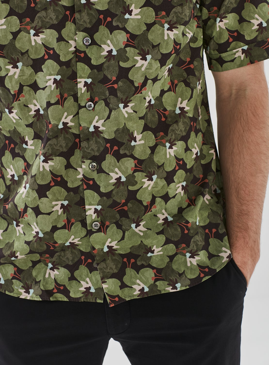 Abstract Stretch Short Sleeve Shirt