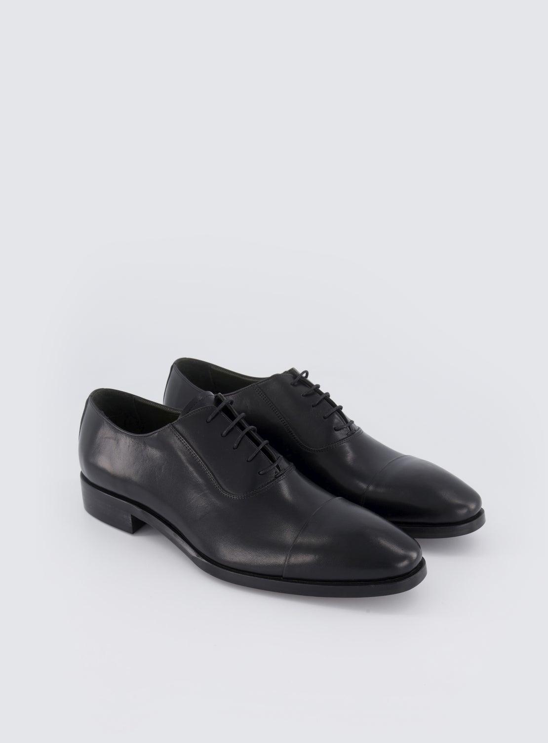Adams Black Toe Cap Shoe