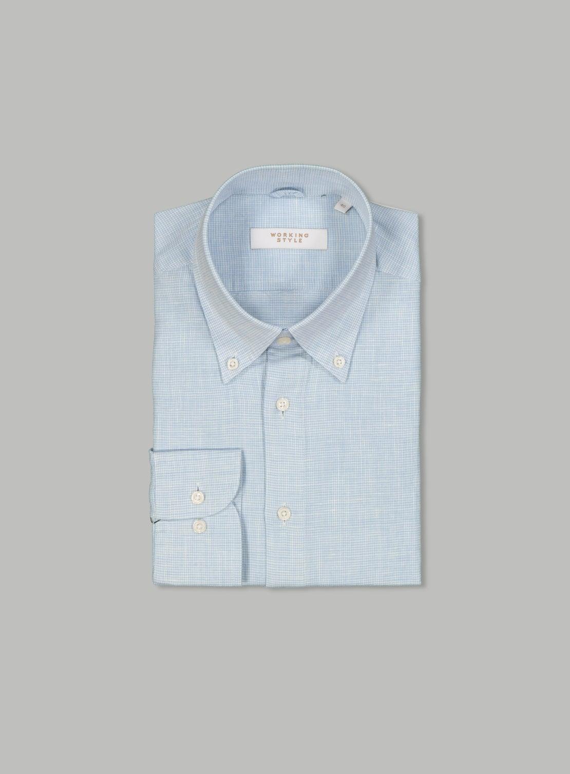 Alberto Blue Linen Shirt
