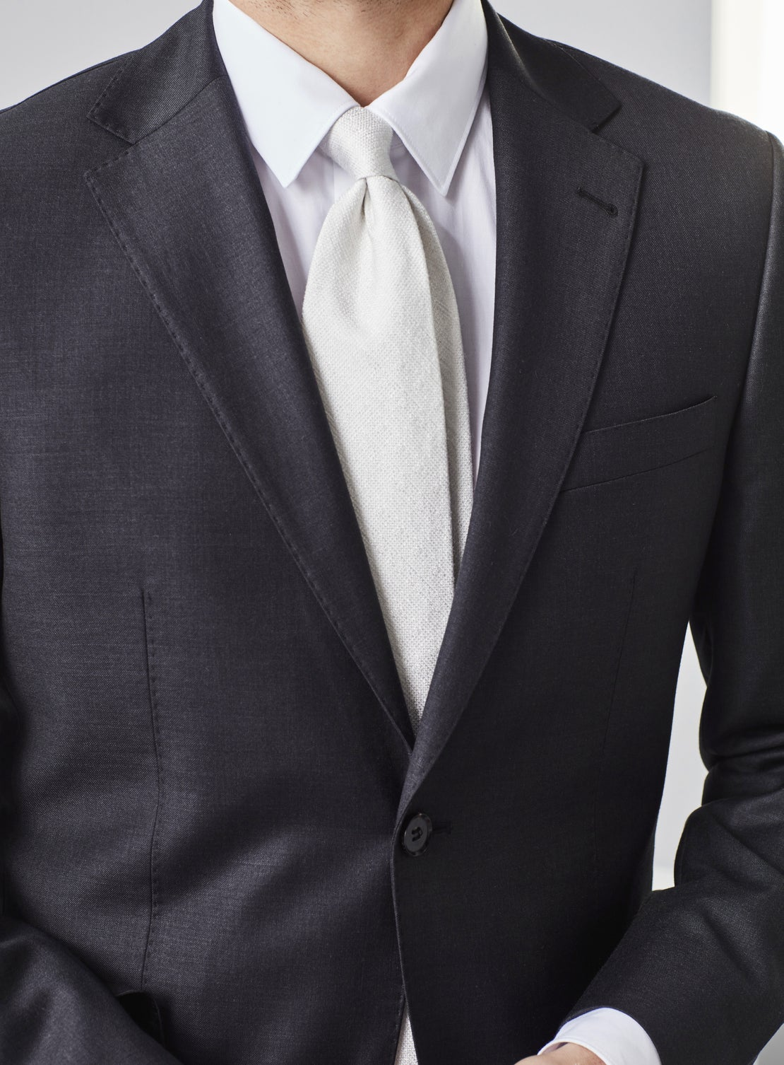 Archie Gunmetal Grey Worsted Suit