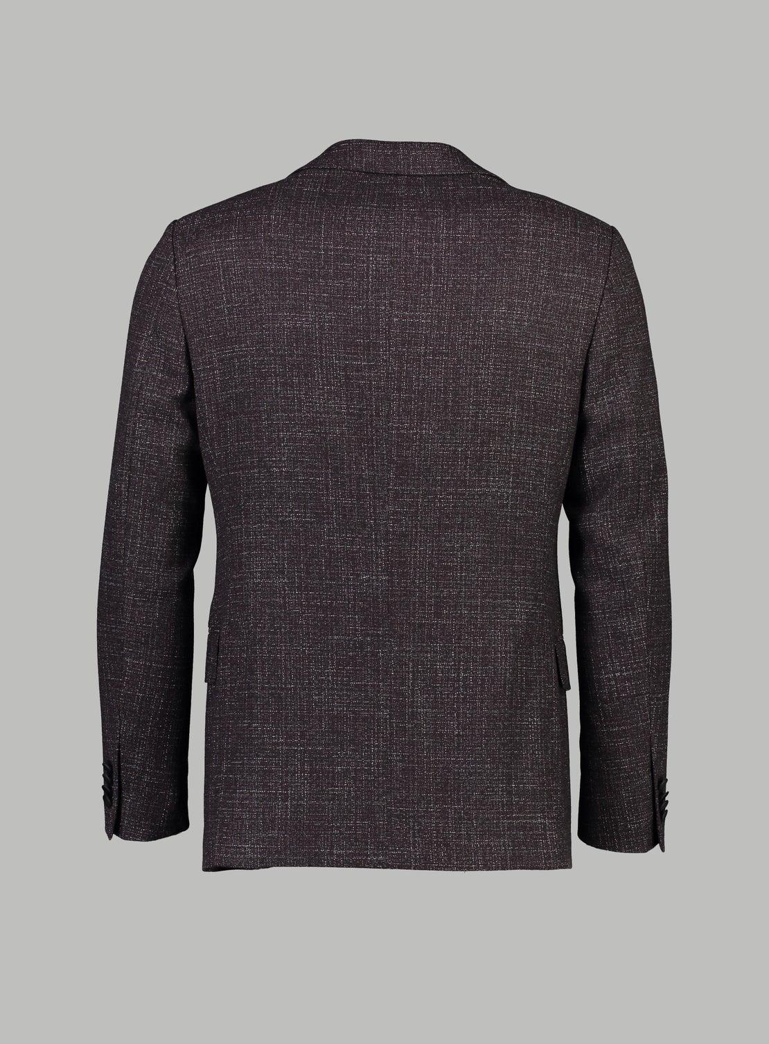 Ash Burgundy Melange Jacket