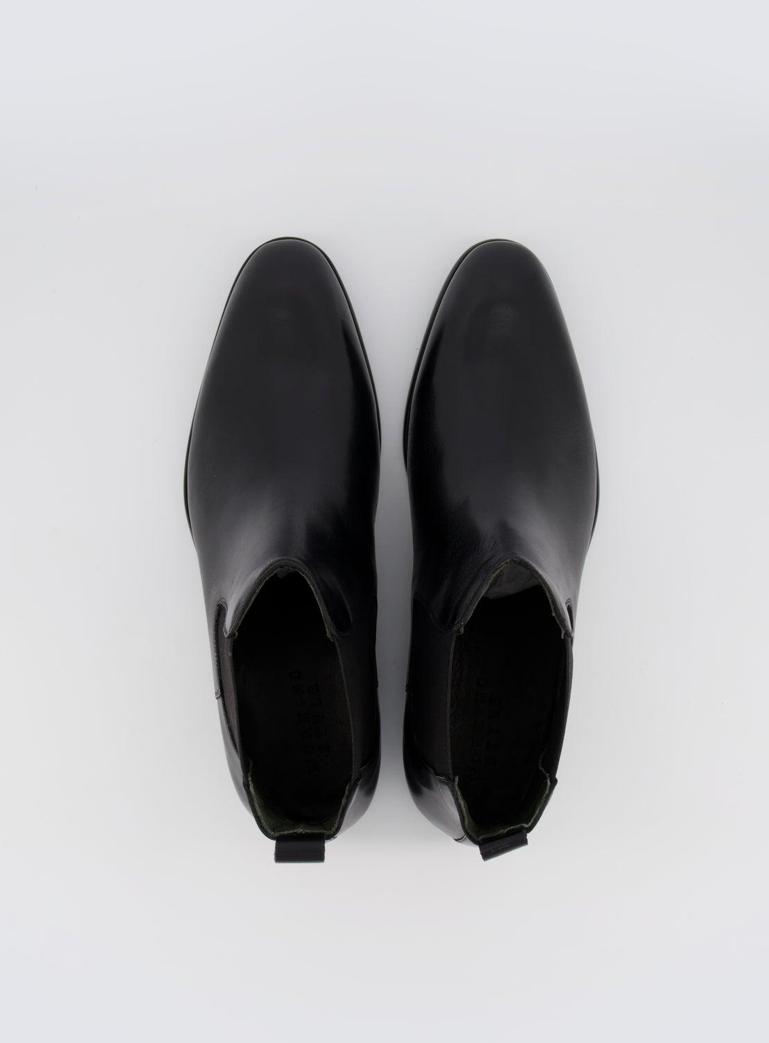 Barat Black Leather Chelsea Boot