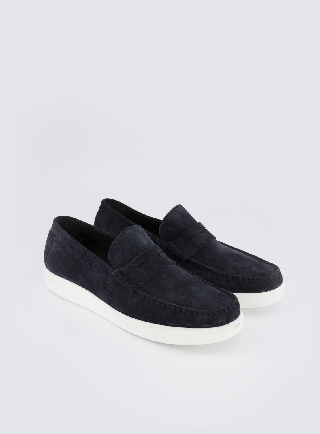Bauhaus Blue Suede Casual Loafer