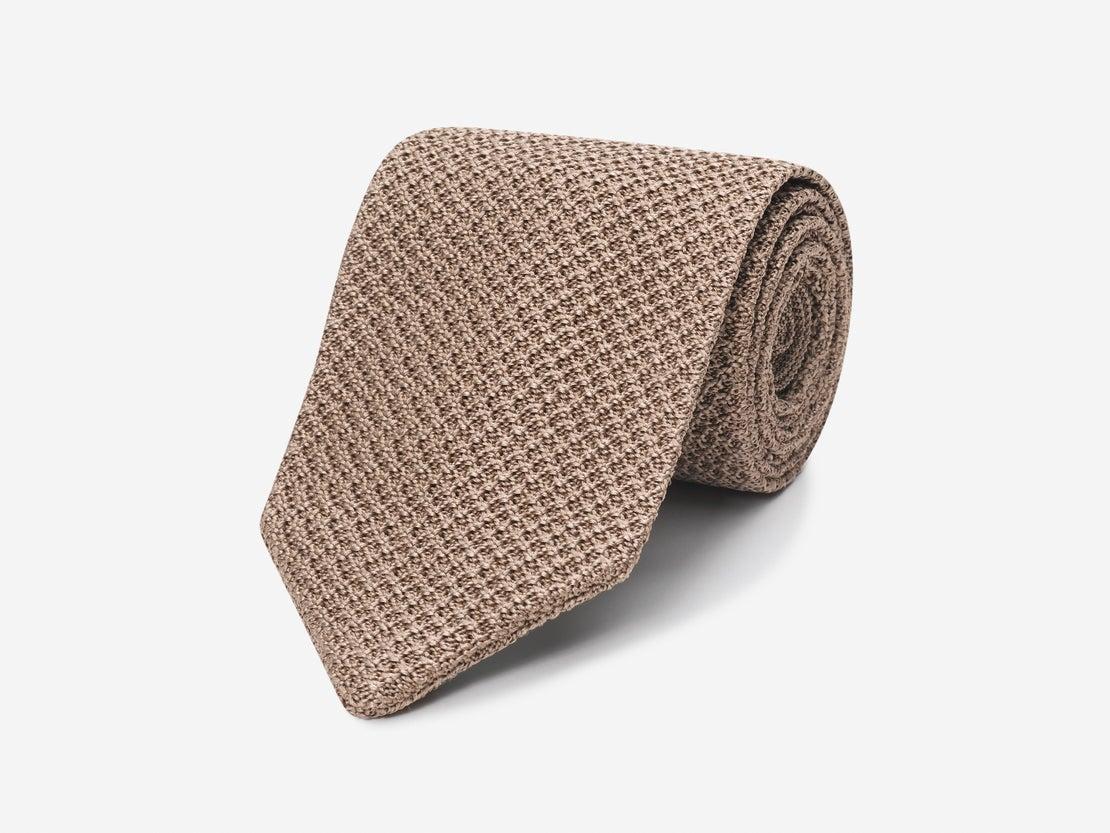 Beige Knitted Tie