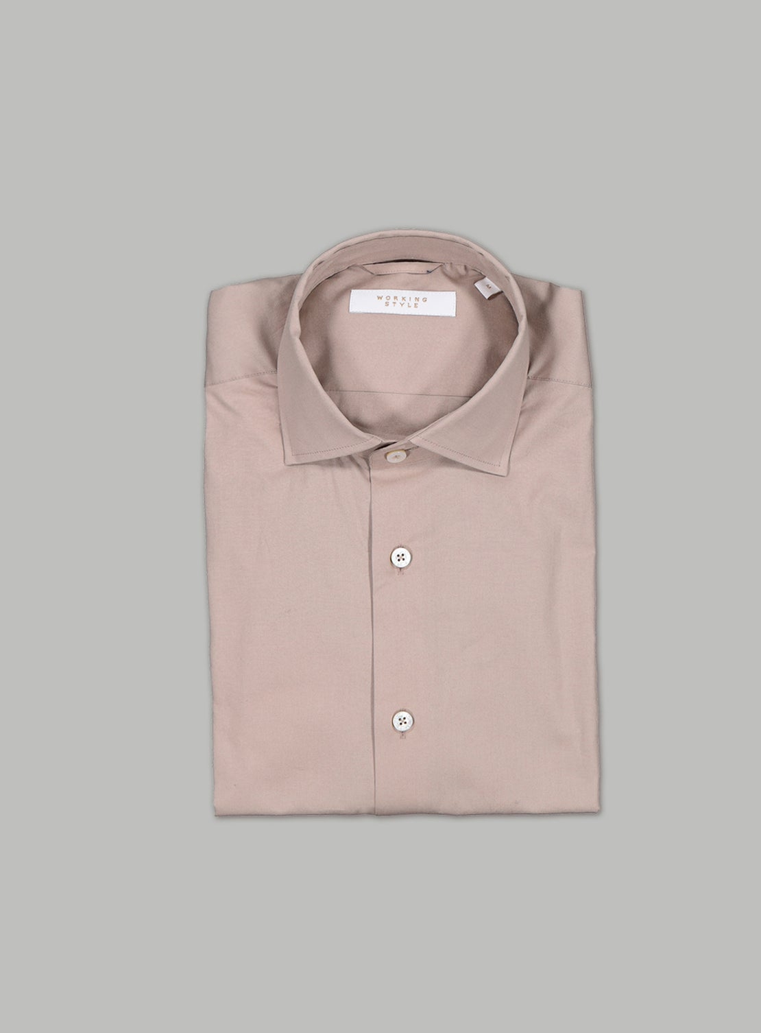 Beige Stretch Poplin Shirt