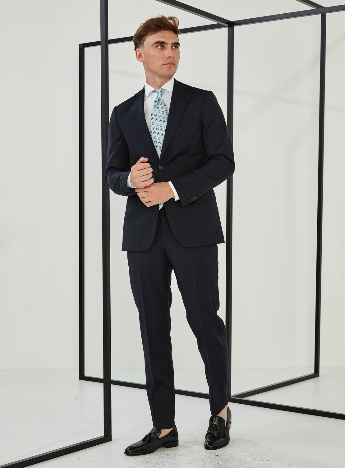 Bjorn Navy Shadow Stripe Suit