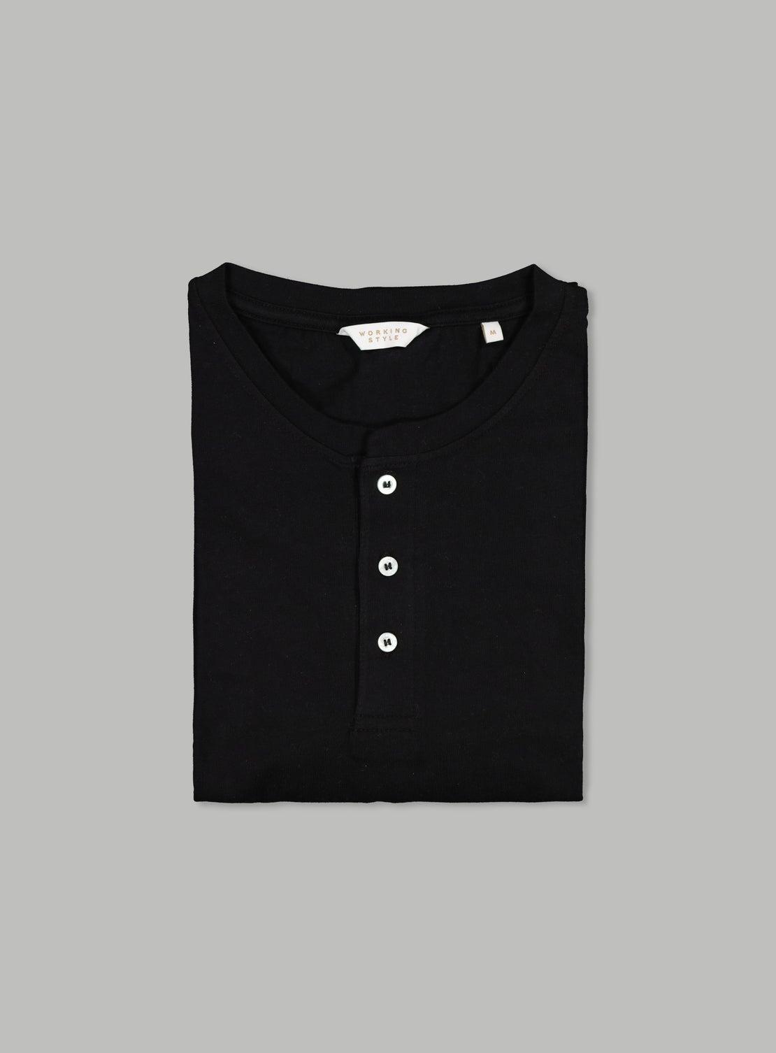 Black Henley Long Sleeve