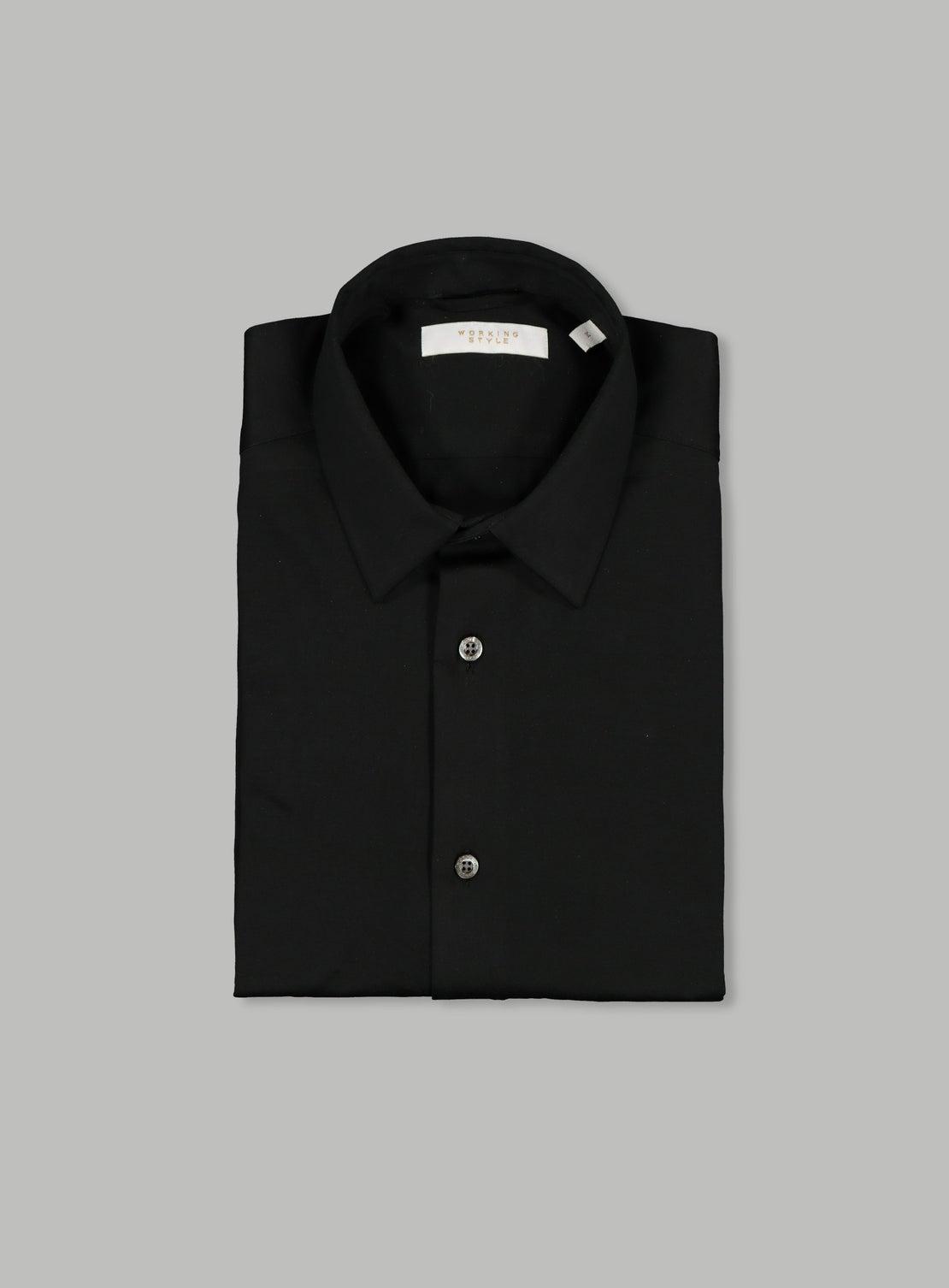 Black Mercerized Knit Shirt