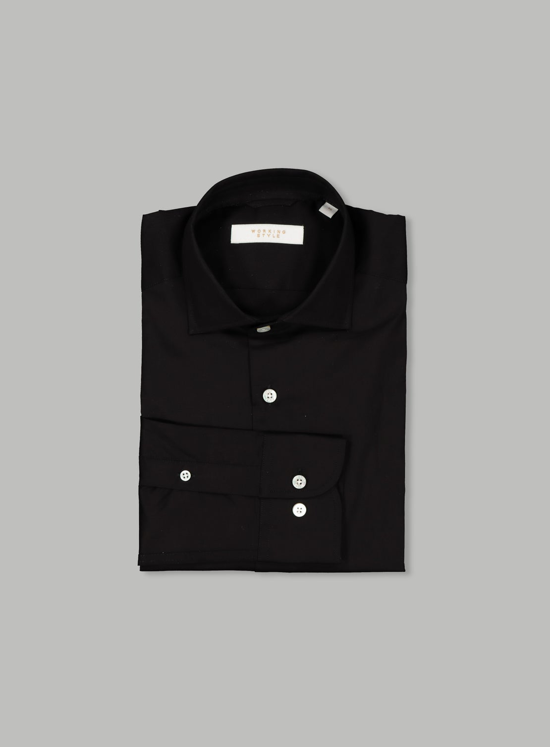 Black Poplin Stretch Shirt