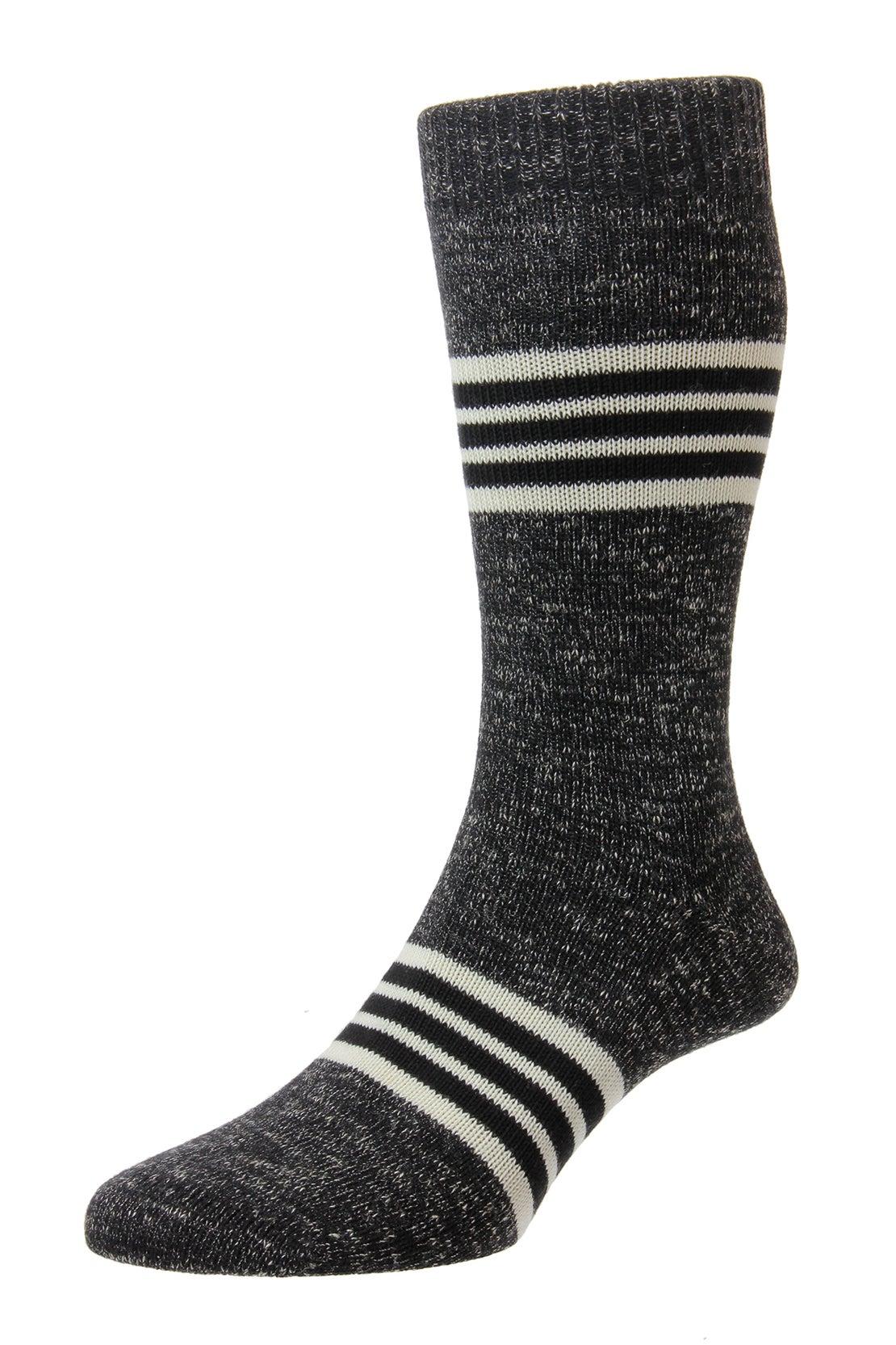 Black Stripe Band Socks