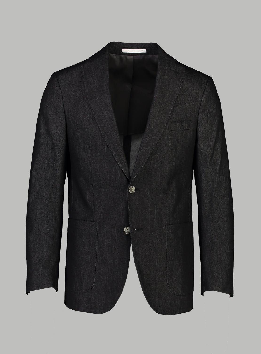 Black Twill Cotton Separates Jacket