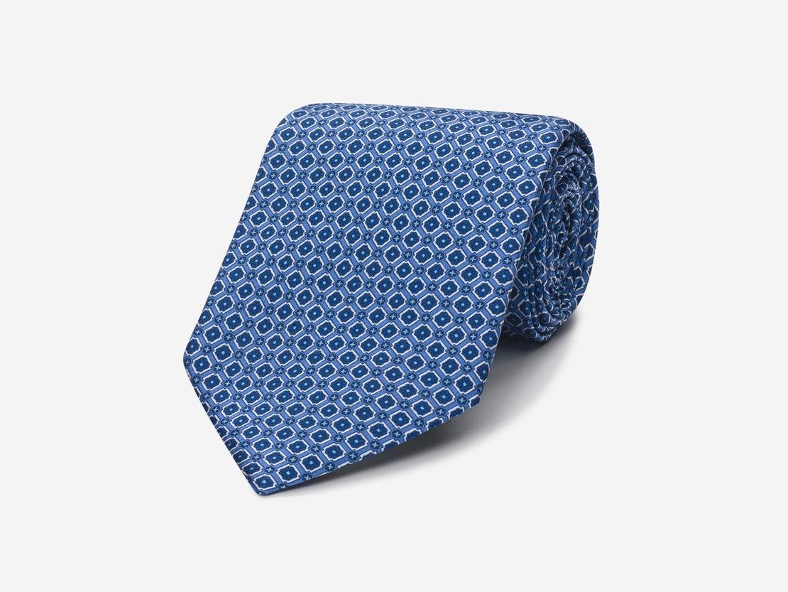 Blue Detailed Grid Tie