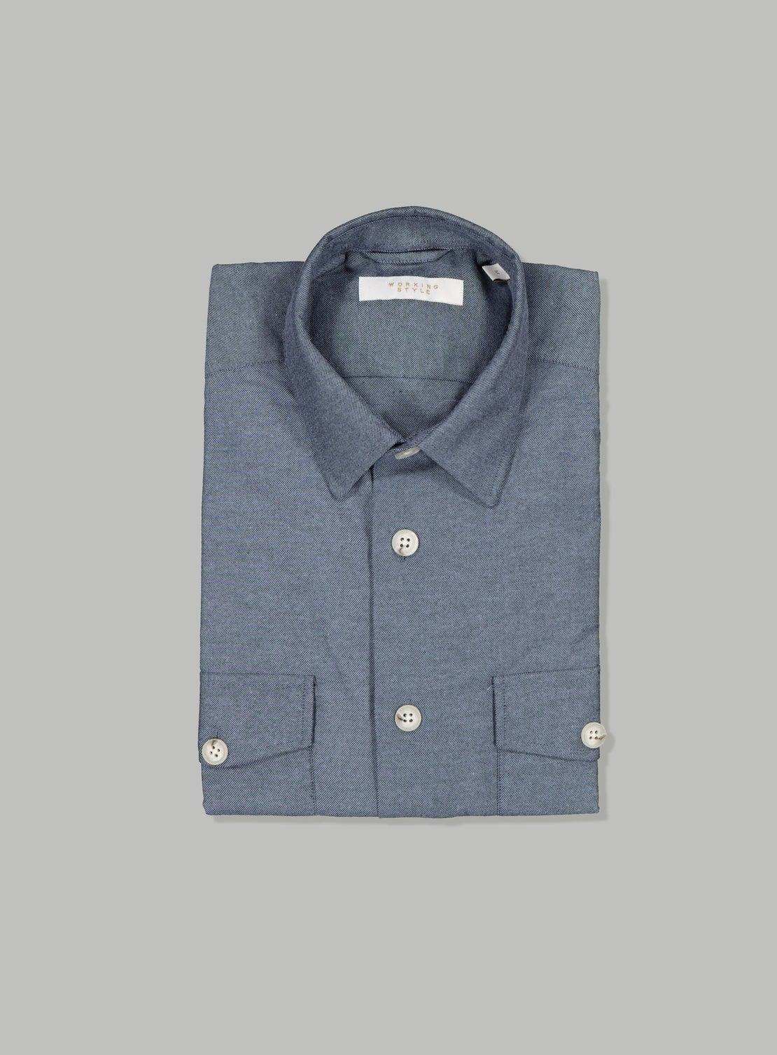 Blue Flannel Twill