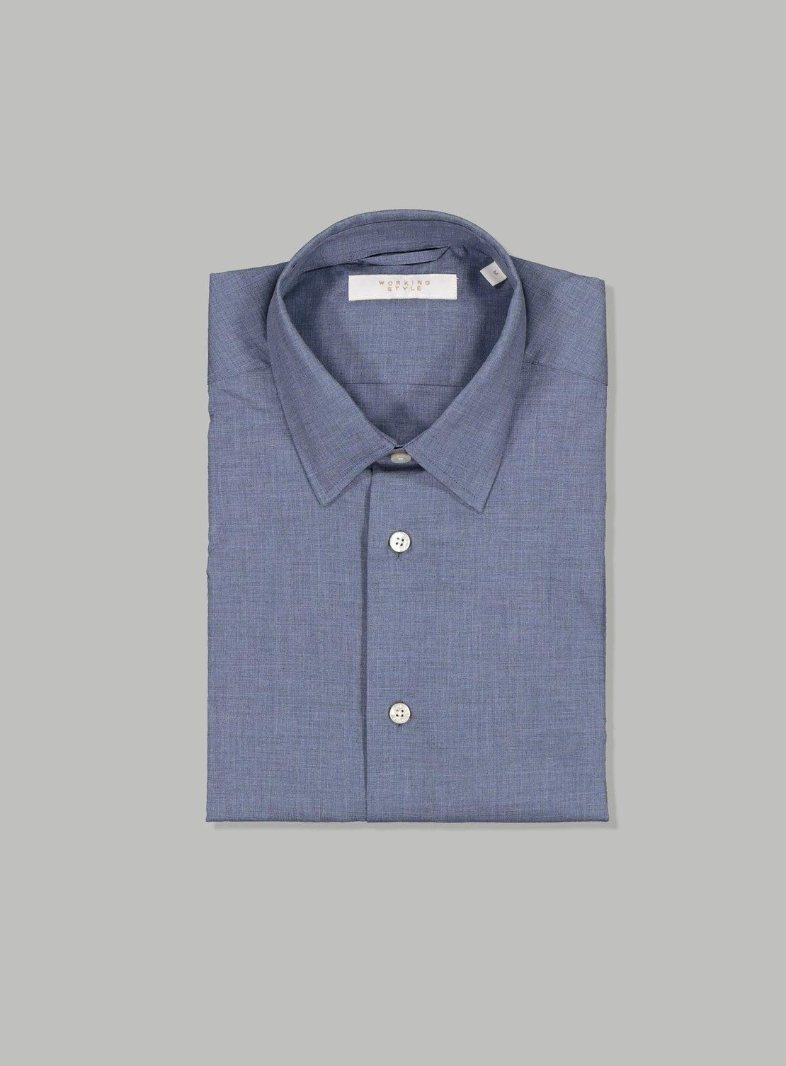 Blue Melange Shirt