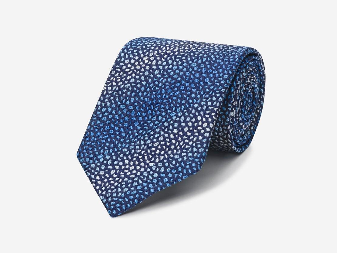 Blue Mottled Texture Tie