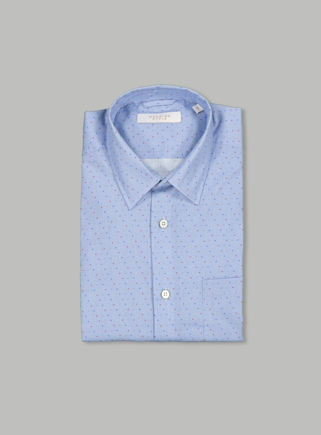 Blue Neat with Colour Dot Shirt