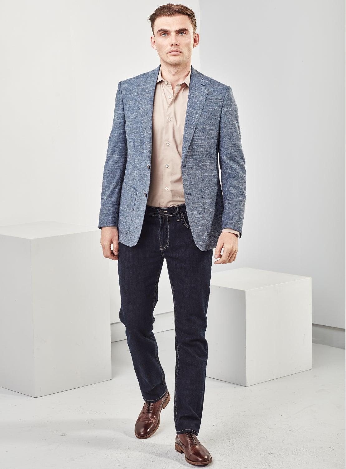 Blue Texture Jacket