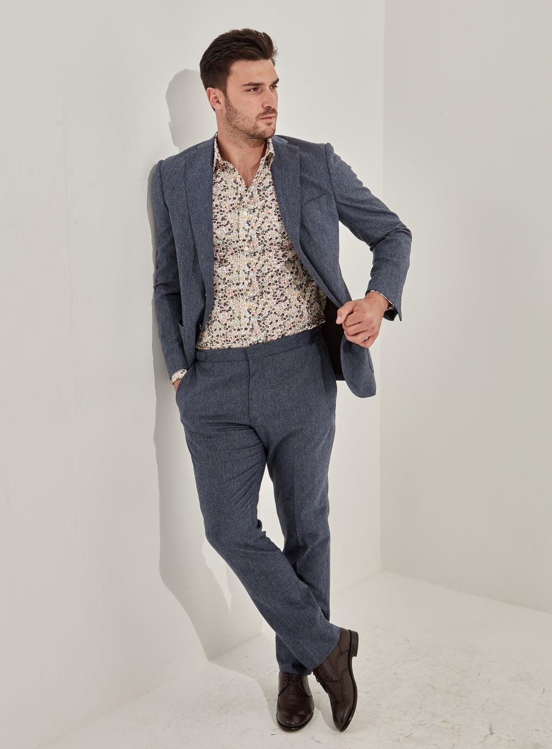 Blue Tweed Separates Jacket