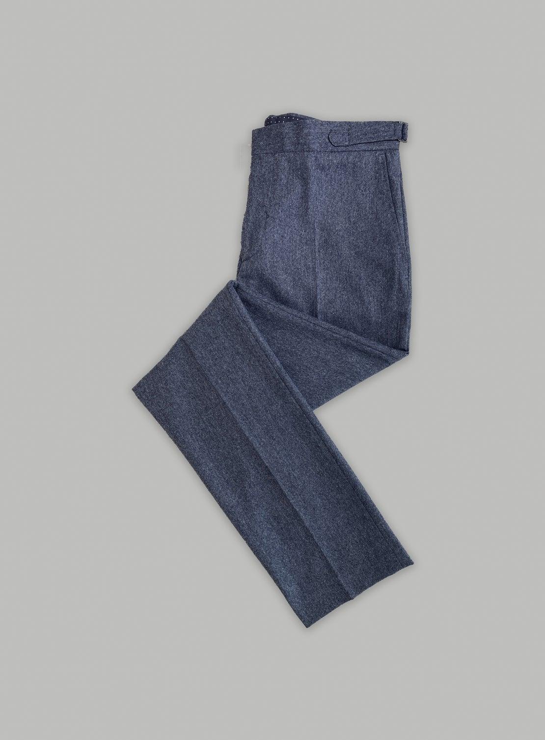 Blue Tweed Separates Trouser