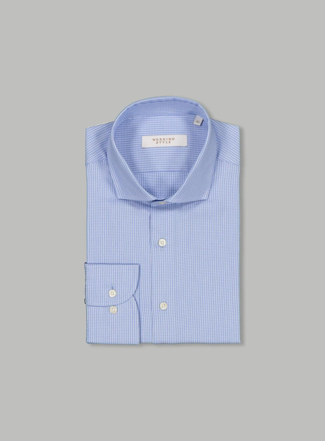 Blue White Check Shirt