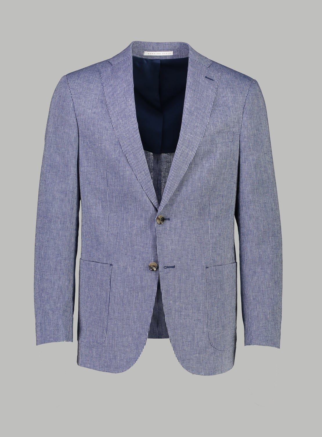 Blue White Pinstripe Jacket