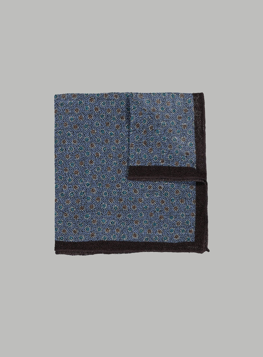 Blue With Multi Coloured Dots Pocket Square