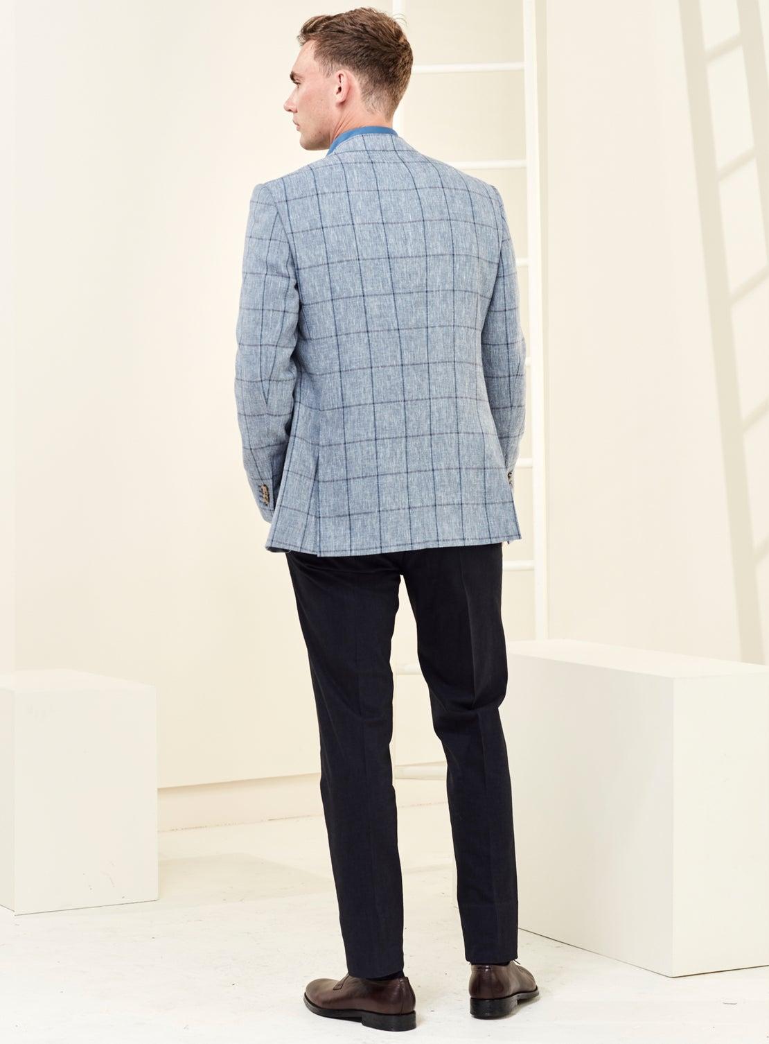 Blue WP Check Jacket