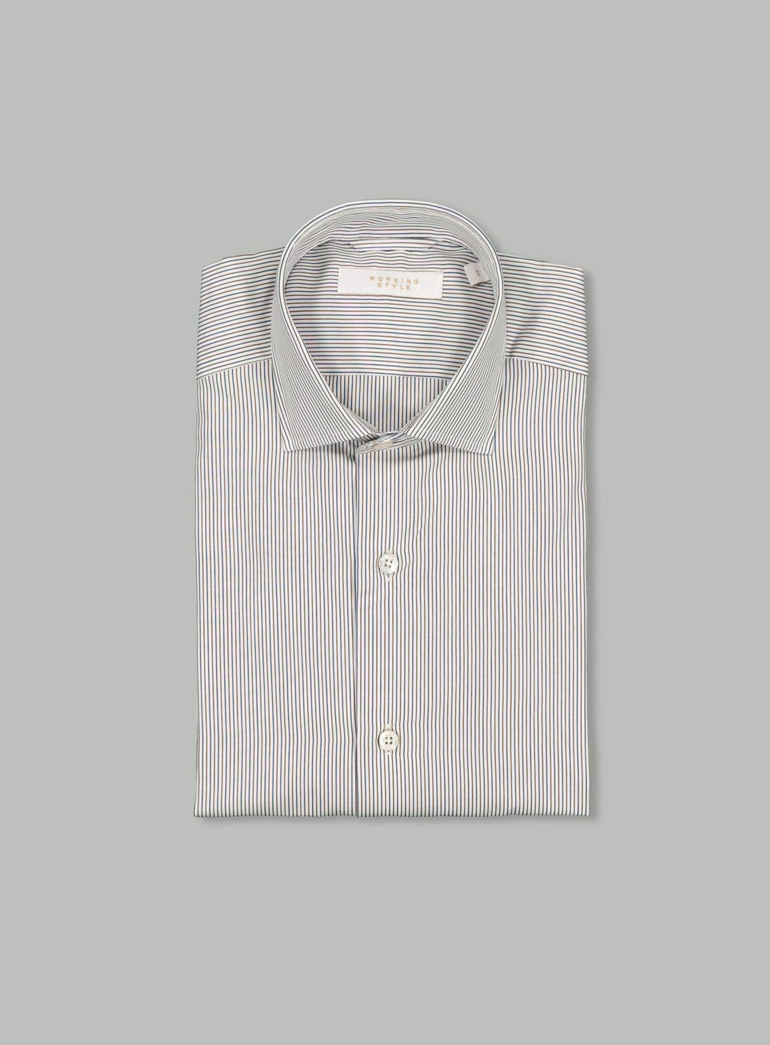 Blue/Chocolate Stripe Shirt