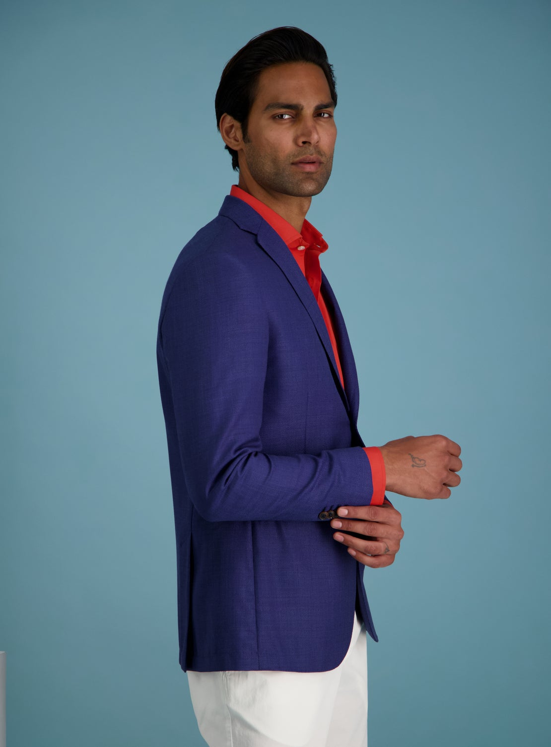 Braga Royal Blue Hopsack Jacket