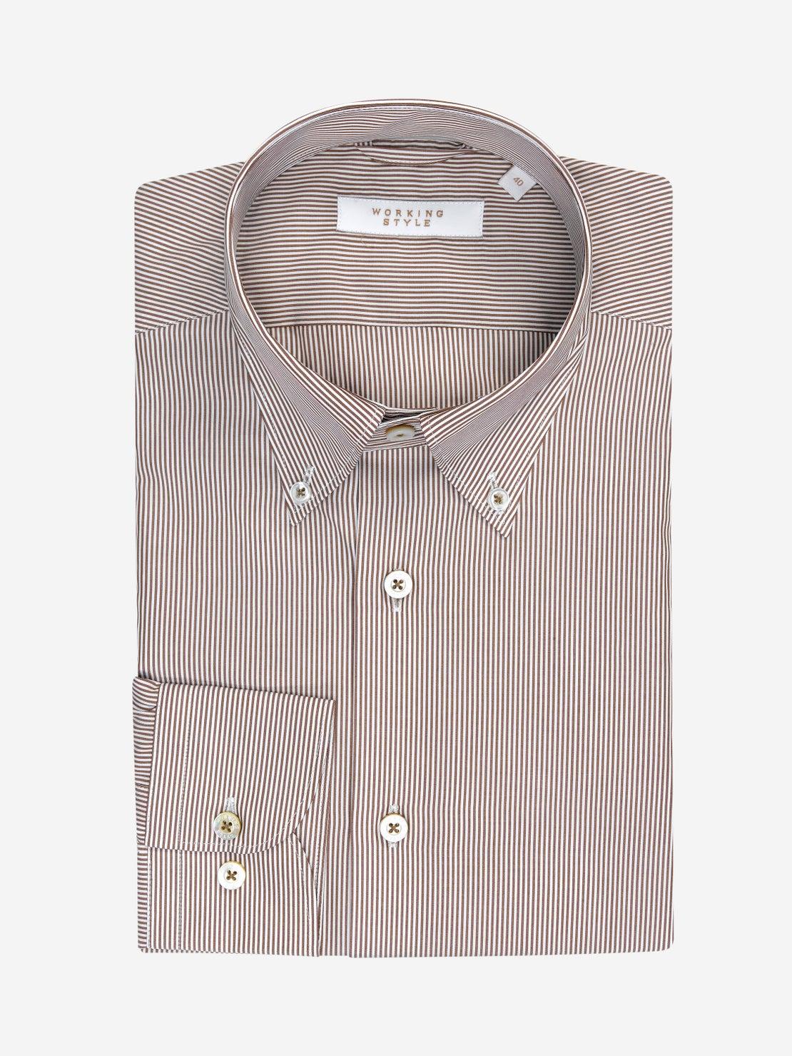 Brown Bengal Stripe Shirt