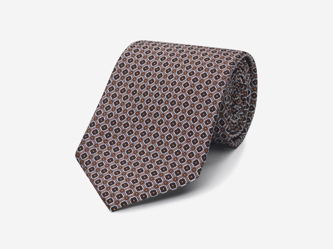 Brown Detailed Grid Tie