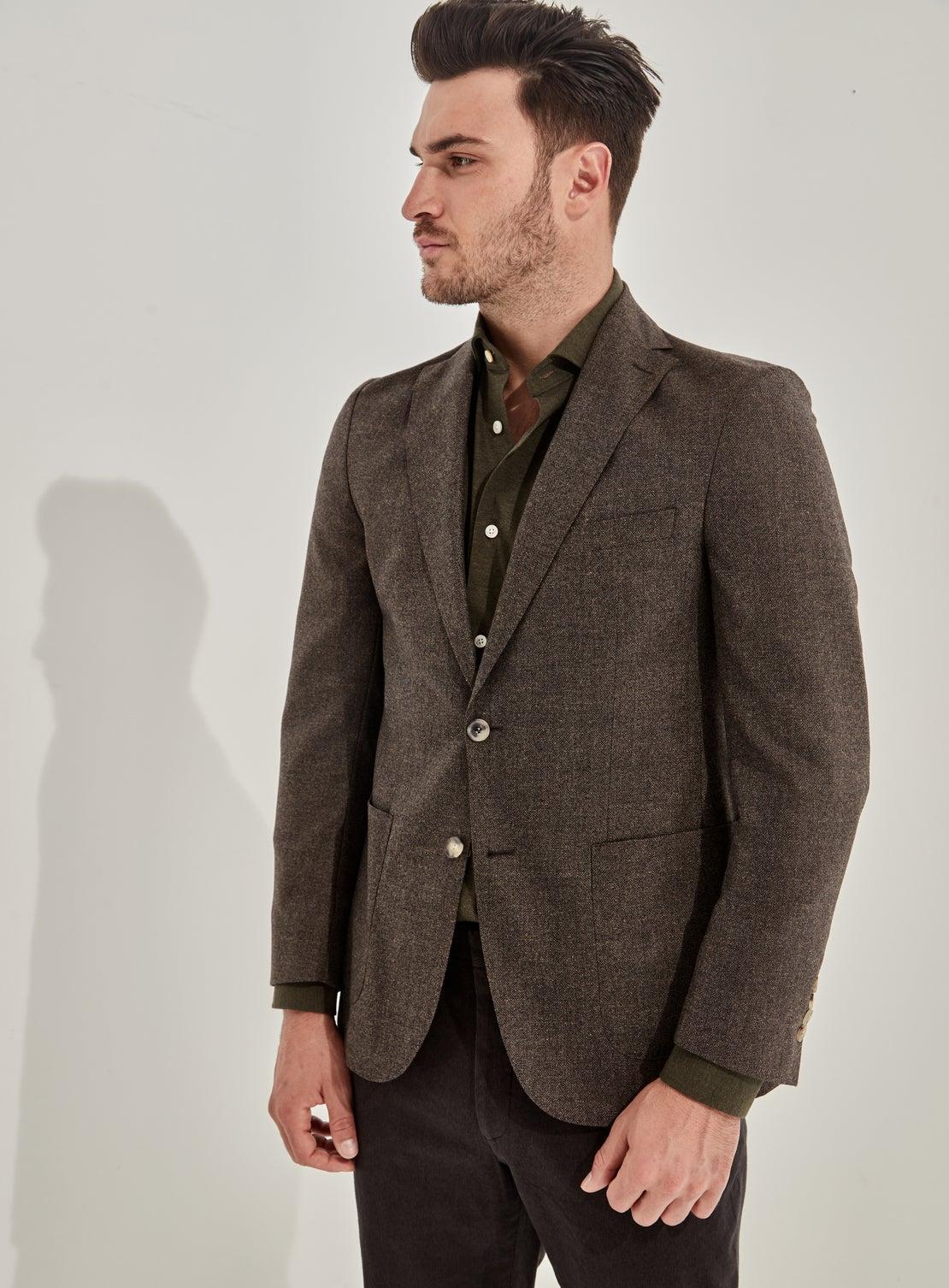 Brown Mottled Jacket