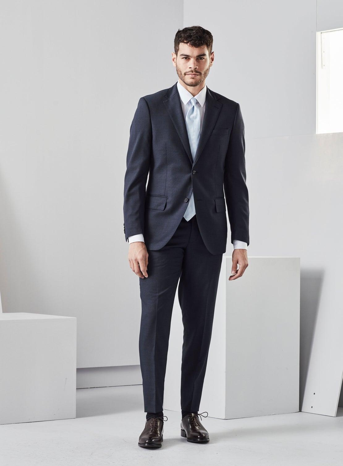 Bruno Atlantic Blue Birdseye Suit