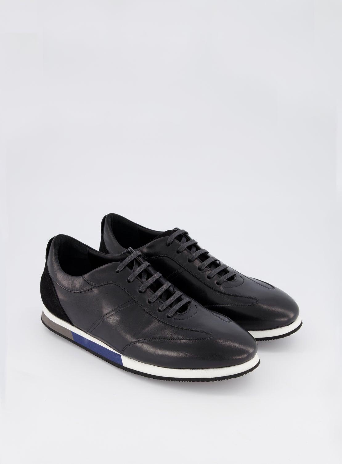 Buck Black Suede Trim Running Sneaker