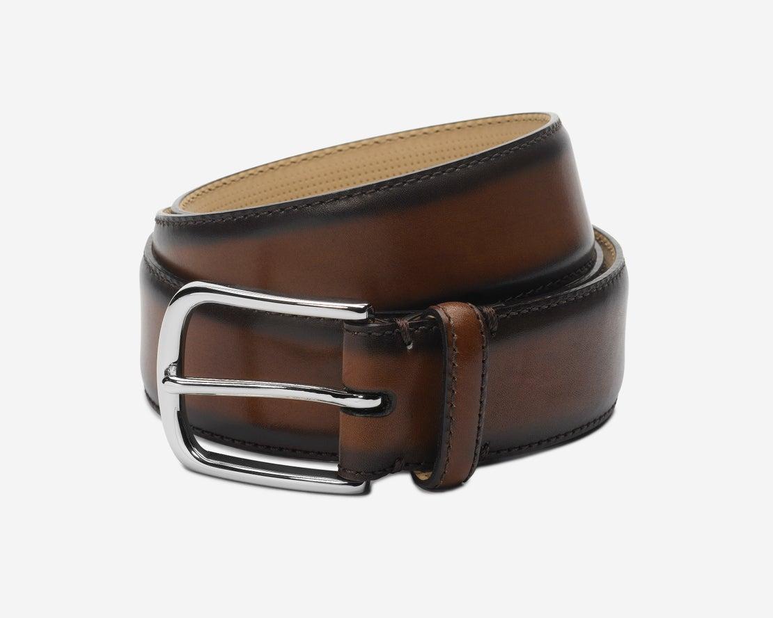 Burnished Brown Leather Belt