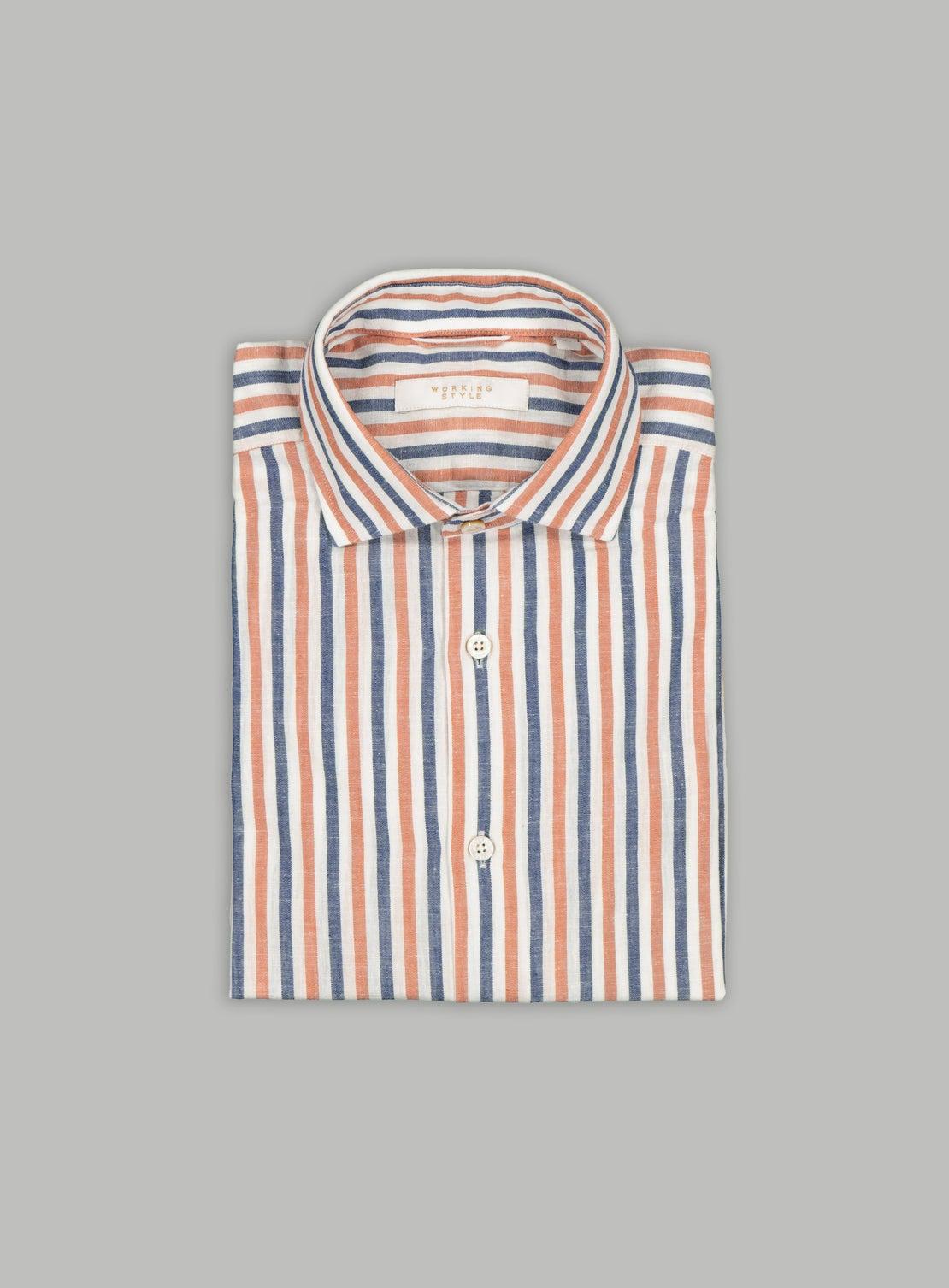 Burnt Orange Bengal Stripe Shirt