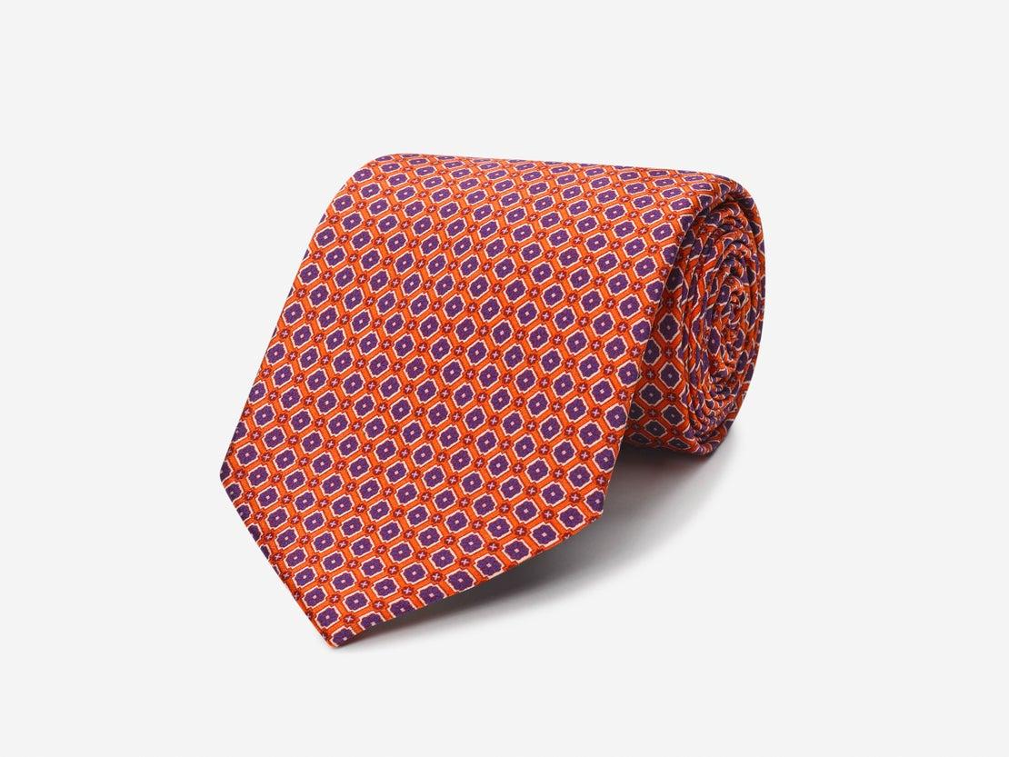 Burnt Orange Detailed Grid Tie