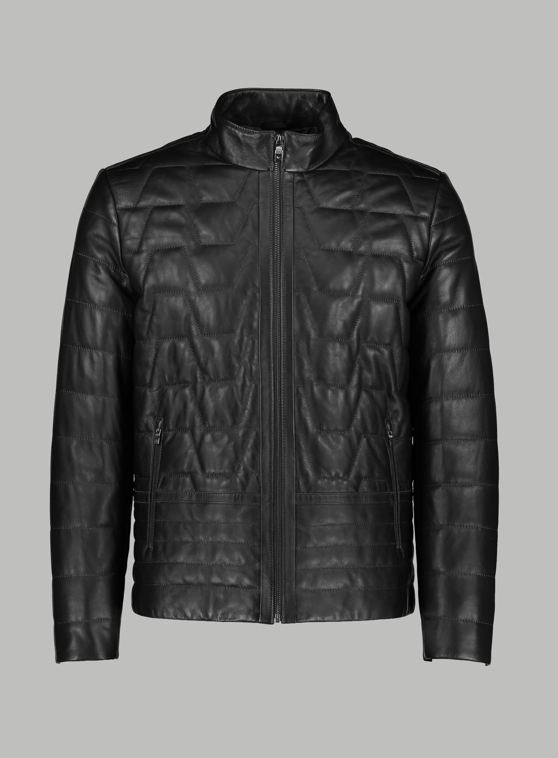 Carlo Black Quilted Leather Jacket