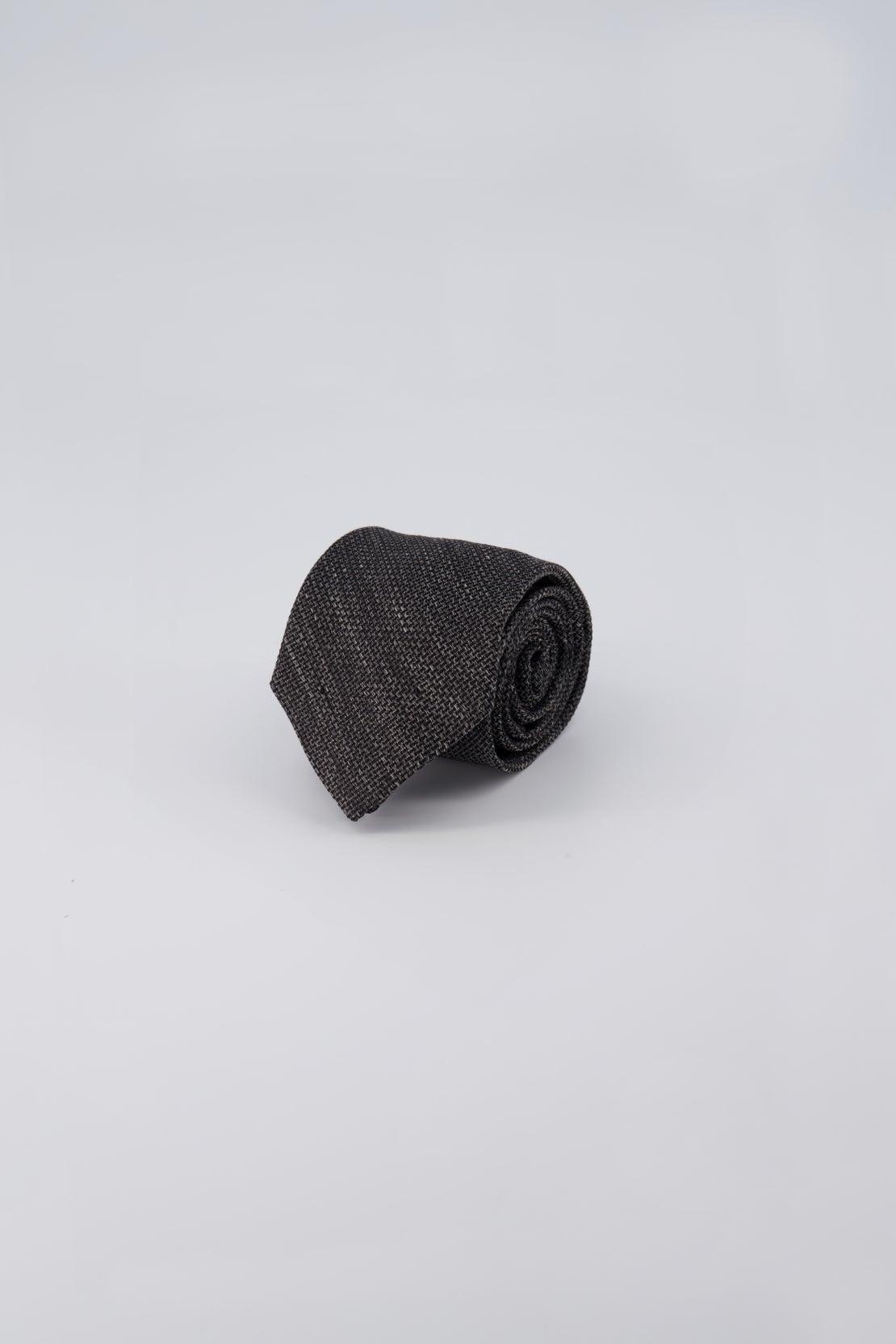 Charcoal Basketweave Tie