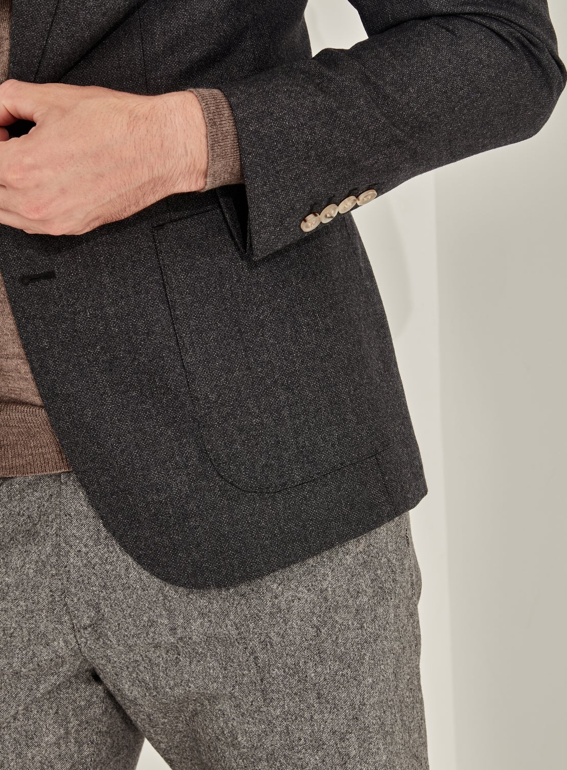 Charcoal Mottled Jacket