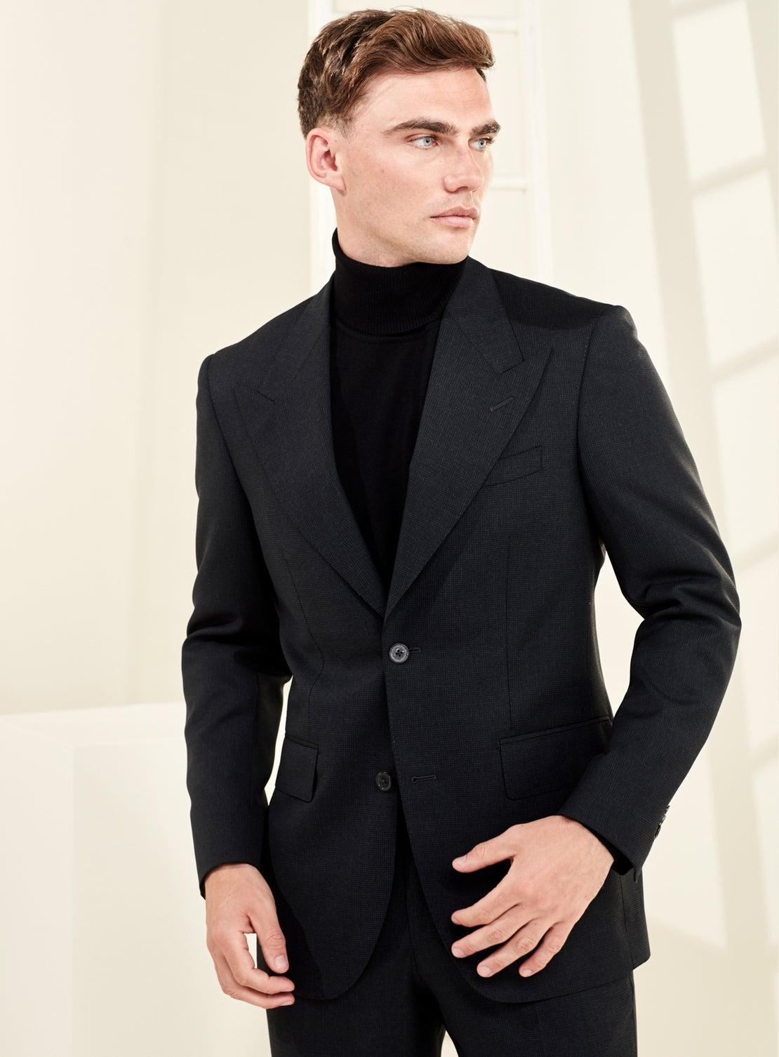 Charcoal Texture Suit
