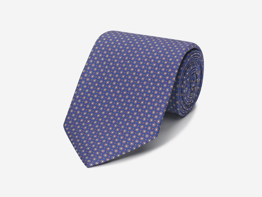 Chocolate Abstract Honeycomb Tie