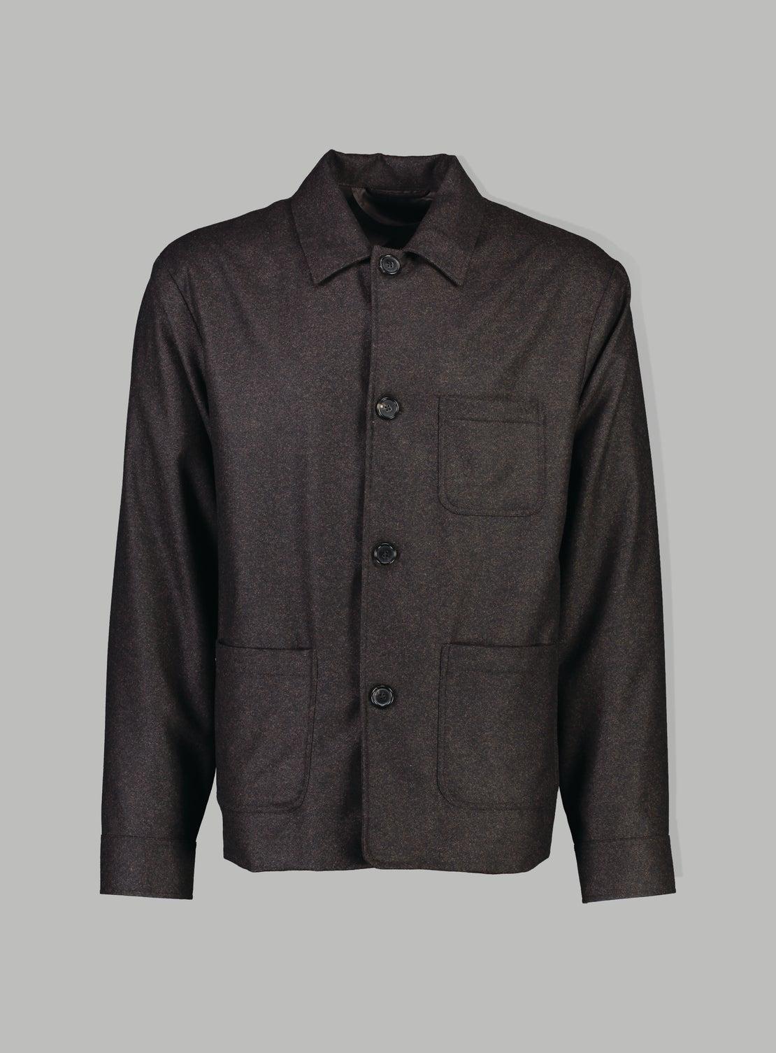 Chocolate Flannel Coat