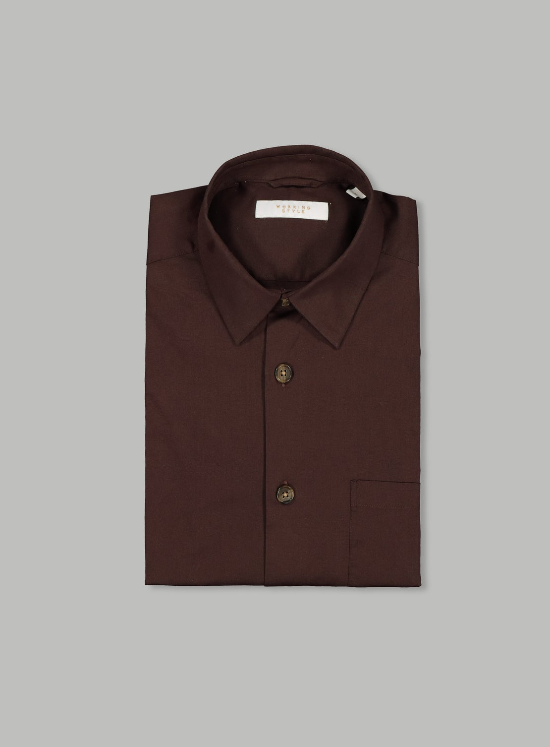 Chocolate Poplin Shirt