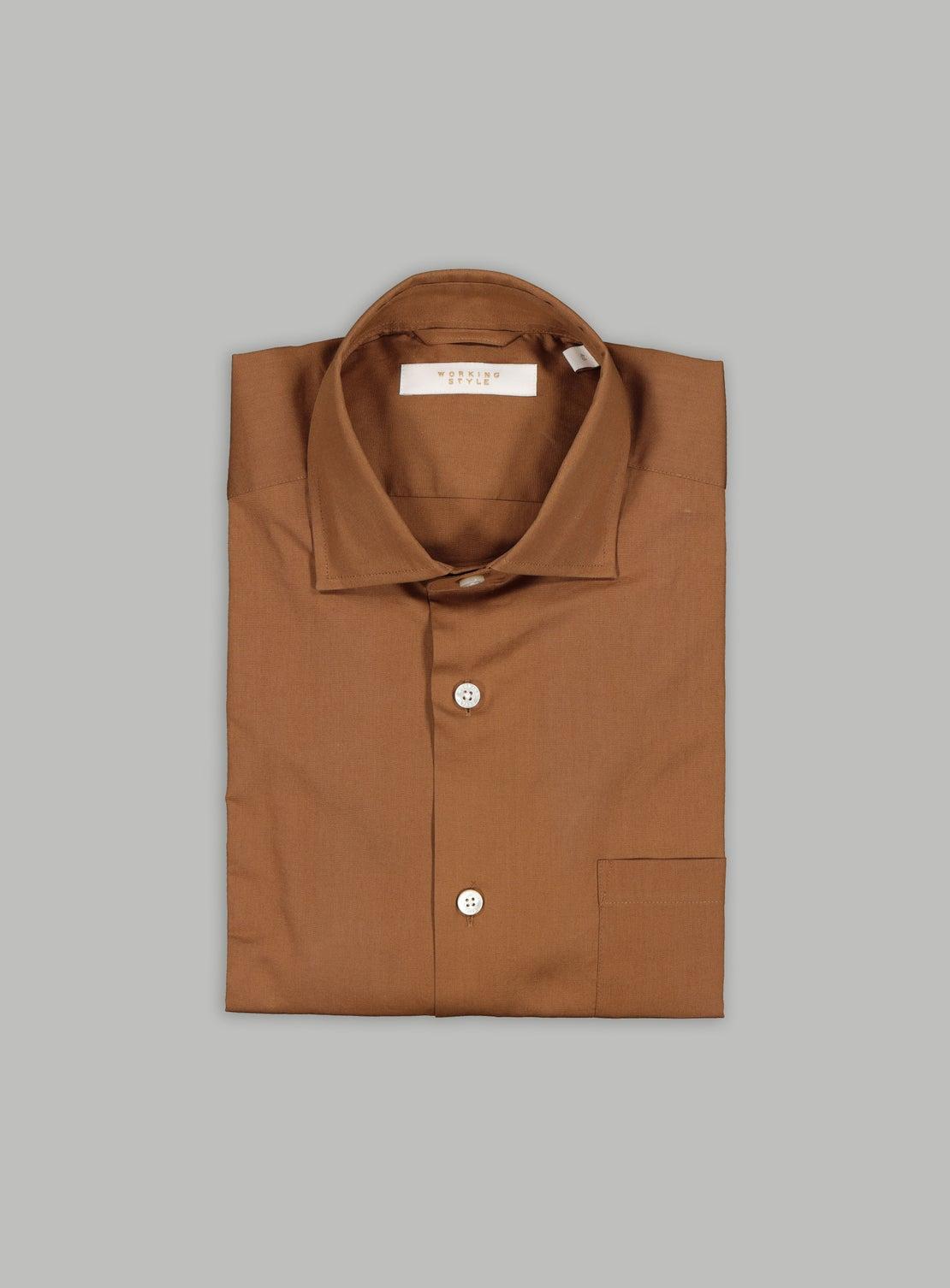 Chocolate Poplin Stretch Shirt
