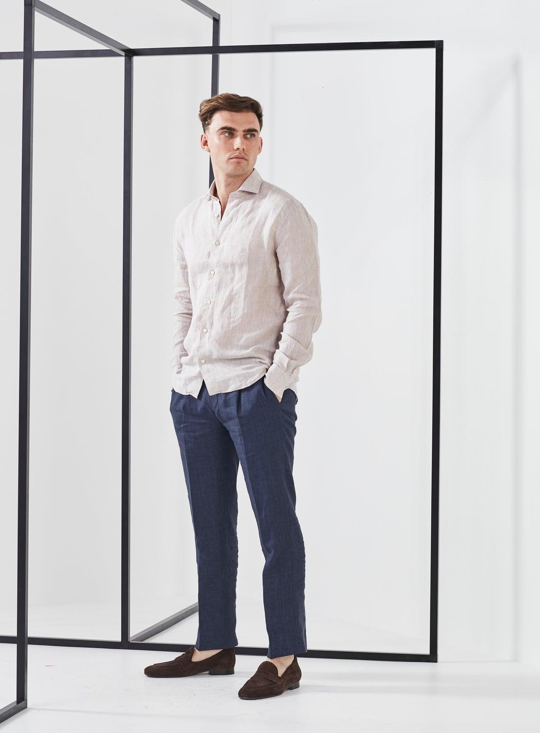 Cinnamon Linen Shirt