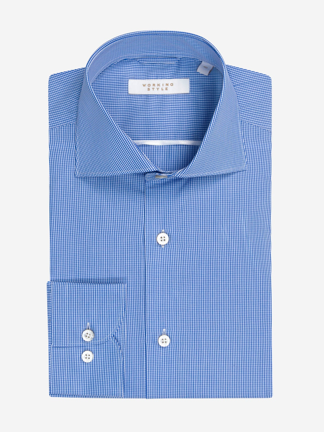 Cobalt Blue Mini Gingham Shirt