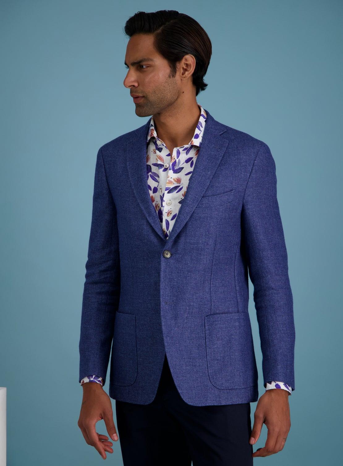 Coimbra Blue Hopsack Jacket